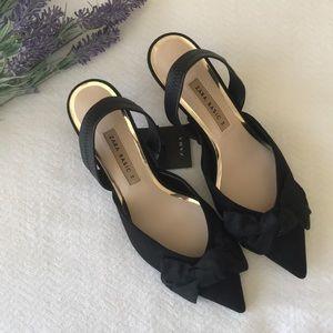 Zara black kitten heels size 7.5